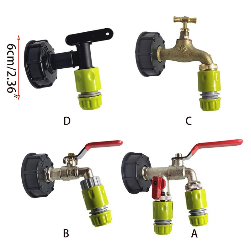 2020 New Faucet Nozzle IBC Tank Valve Quick Hose Connector Fitting 60mm Coarse Thread