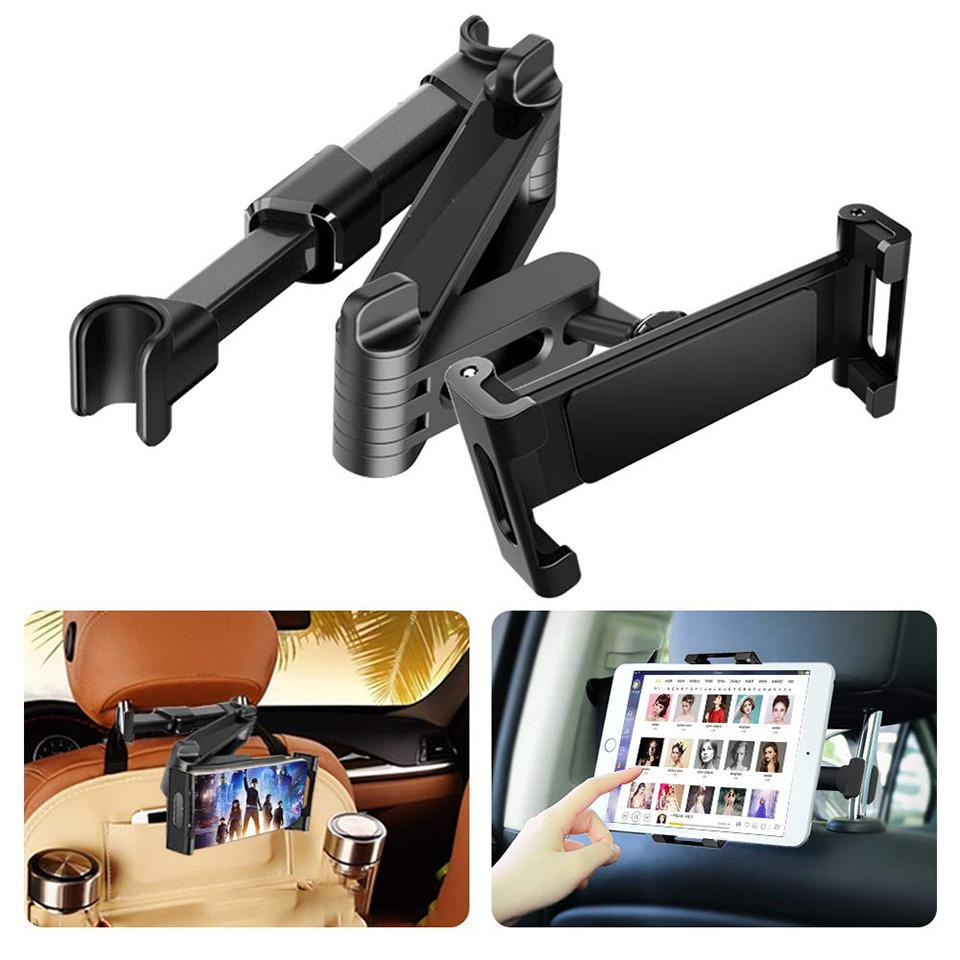 Image 2 - Car Rear Pillow Phone Holder Tablet Car Stand Seat Rear Headrest  Mounting Bracket for iPhone X8 iPad Mini Tablet 4 11/12.9 InchTablet  Stands