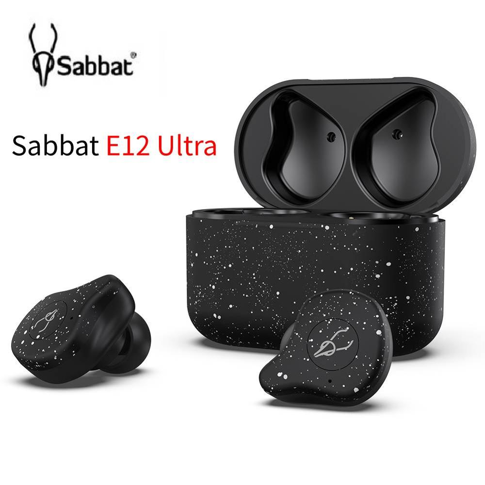 Sabbat E12 Ultra Earphone Bluetooth 5.0 TWS Qualcomm Sports HiFi Stereo Earbuds Noise Reduction Wireless Earphone with Charger image