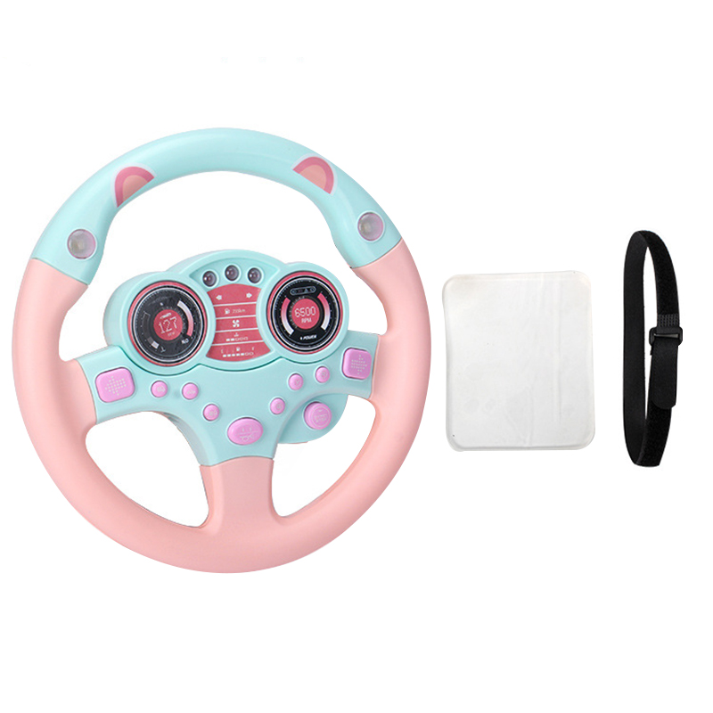 Children Kids Simulation Steering Wheel With Light Music Educational Toys Birthday Gift M09