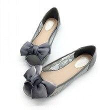 2020 neueste Schuhe Frauen Mode Weibliche Ballett Wohnungen Flacher Peep Toe Schuhe Sexy Spitze Damen Schuhe Arbeit Schuhe Plus Größe schwarz