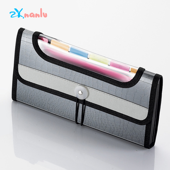 2020 New A6 Multifunction Expanding Wallet File Bag Bill Receipt Business Gifts File Bag Storage Pouch File Folder Office Supply elastic bill bag business office plastic bill fold expanding pocket folders as bill holder