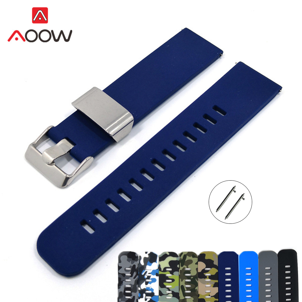 22mm Soft Silicone Watchband for <font><b>Samsung</b></font> Galaxy <font><b>46mm</b></font> Colorful Camouflage Replace <font><b>Strap</b></font> Bracelet Band for Gear S3 Huami Amazfit image