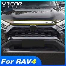 Cubierta embellecedora de acero inoxidable para coche Toyota, cubierta de decoración de motor de capó, modificación Exterior, para modelo Rav4 Xa50 2019 2020 2021