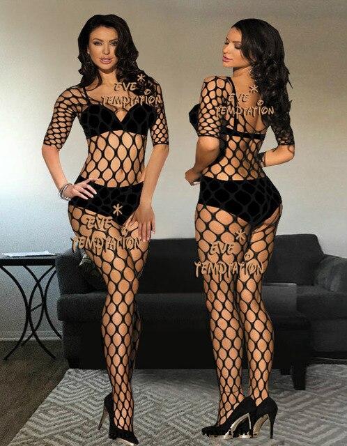 Grande taille Transparent érotique grande taille lingerie chaude maille sexe bébé poupée robe pyjamas Sexy Lingerie produits de sexe sous-vêtements W037