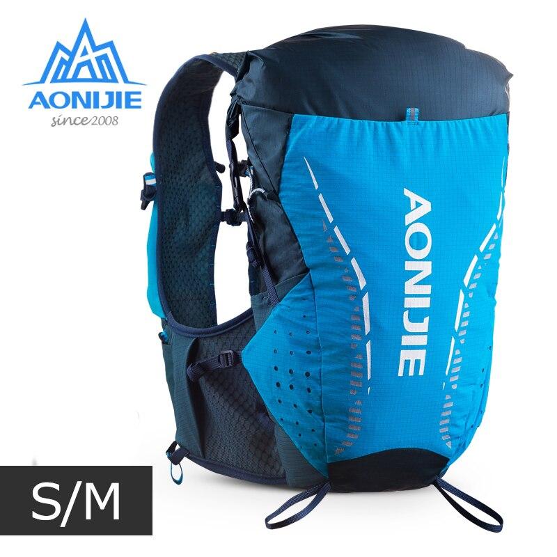 SM Size AONIJIE C9104 Ultra Vest 18L Hydration Backpack Pack Bag Soft Water Bladder Flask Hiking Trail Running Marathon Race