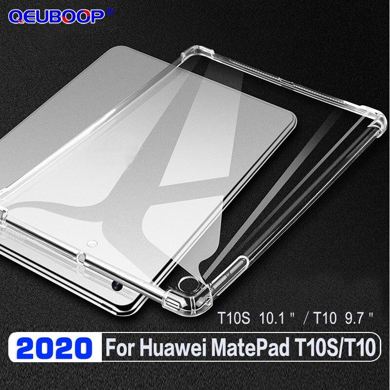 Прозрачный чехол для планшета для Huawei Matepad T10S 10,1 2020 падение ударопрочный корпус для Matepad T10 9,7 AGR-L09 AGR-W09 Тонкий чехол