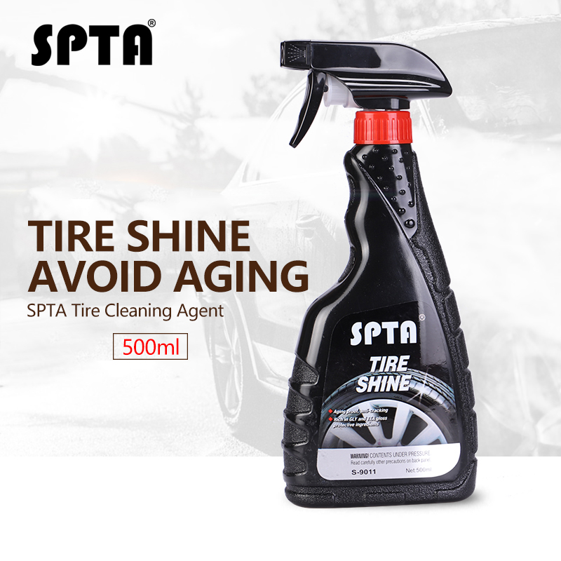 SPTA Tyre Gloss 500ml Tire Shine Liquid Wax Car Wheel Cleaning Agent Bright Maintenance Color Enhance Tire Polishing Wax