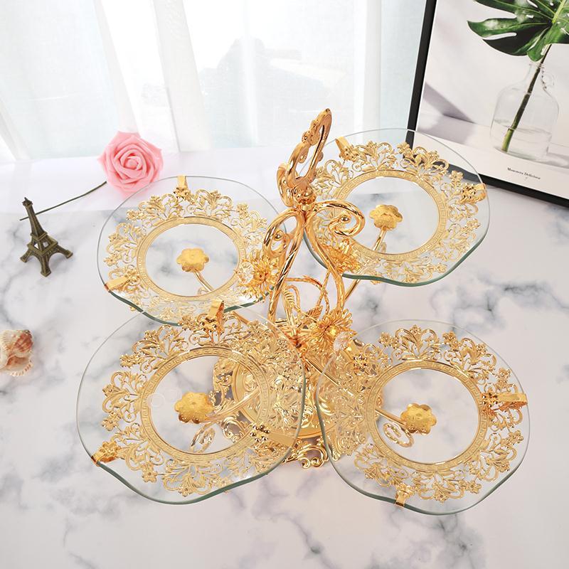 acessível estilo luxo preguiçoso cristal tigela de frutas