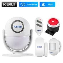 Kerui p6 125db casa garagem sistema de alarme de segurança anti-roubo inteligente detector de movimento pir porta/janela sensor de alarme sem fio