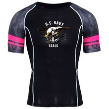 U.S. Navy seals 3D Printed T-shirts Men Compression Mens Tshirt Short Sleeve Quick dry Workout Bodybuilding Fitness Tops summer(China)