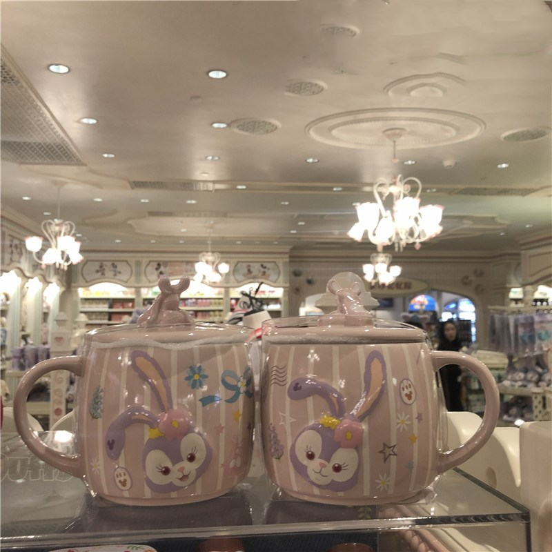 483ml Disney Cute Stellalou Cartoon Mug Large Capacity Ceramic Cup Coffee Milk Tea Breakfast Water Cup Festival Gifts Mug
