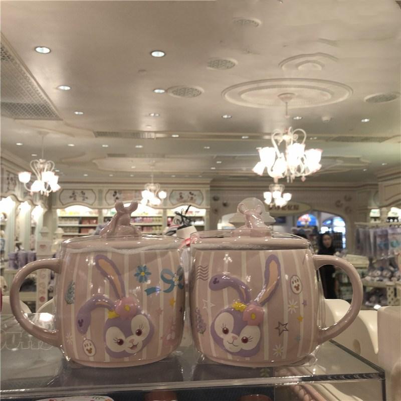 483ml Disney Cute Stellalou Cartoon Mug Large Capacity Ceramic Cup Coffee Milk Tea Breakfast Water Cup Festival Gifts Mug