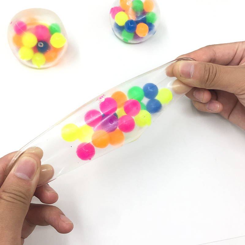 Fidget Toys 7cm Colorful Soft Foam TPR Squeeze Balls Toys for Kids Children Adults Stress img3