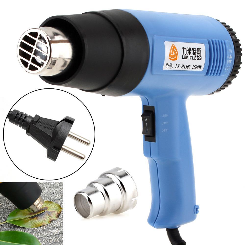 1500W Heat Gun Air Gun Solder Hair Dryer Temperature-controlled Building Hot Air Soldering Hair Dryer Construction Heat Guns
