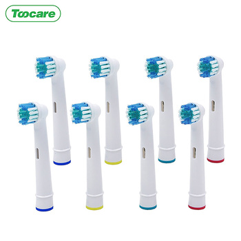 Wymienna głowica szczoteczki do zębów do Oral b elektryczna szczoteczka do zębów Advance Pro Health Triumph 3D Vitality wymienne końcówki do szczoteczki głowica szczoteczki do zębów s tanie i dobre opinie Toocare SB17A Silikon Szczoteczki do zębów głowy 1000 Dorosłych OralB electric toothbrushes Dupont Nylon612 Skin-friendly silicone