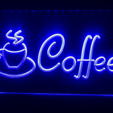 I433 Coffee Cup Shop Cappuccino Cafe LED Neon Light Sign RGB Multi-Color