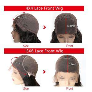 Image 4 - RXY Bob peruka peruwiańskie włosy remy prosto 13x6 wolna część krótki Bob koronki przodu włosów ludzkich peruk dla kobiet wstępnie oskubane z dzieckiem włosy