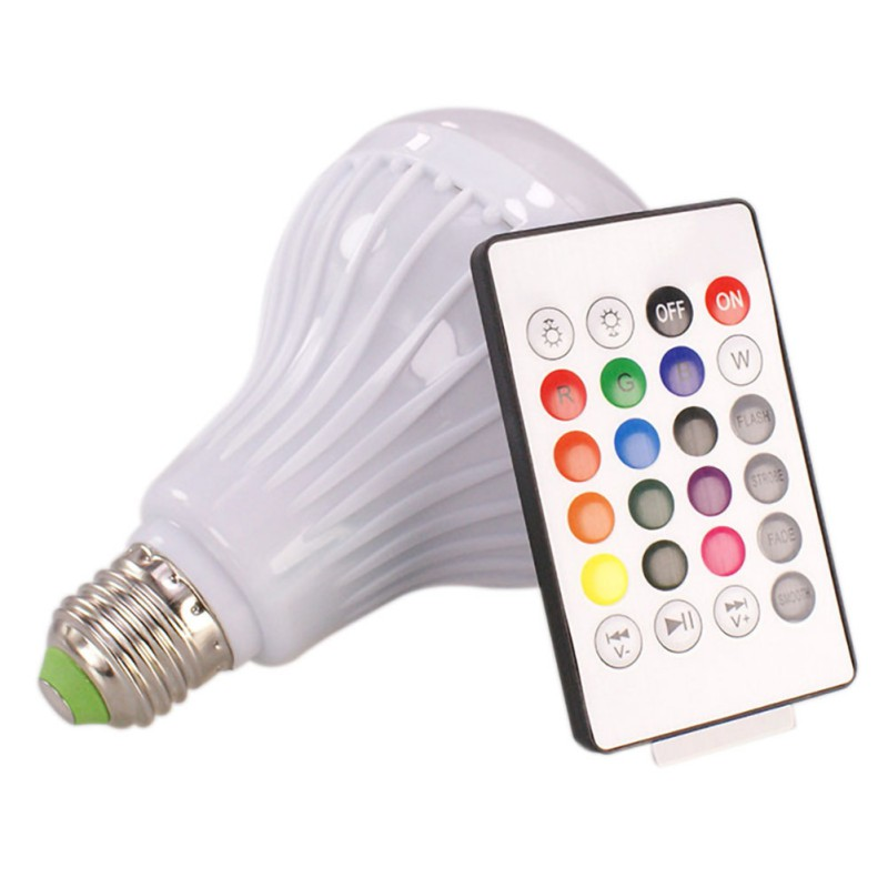 E27 RGB LED Music Light Bulb Lights For <font><b>Bluetooth</b></font> Subwoofer <font><b>Speaker</b></font> For Living Room/ Bar Counter image