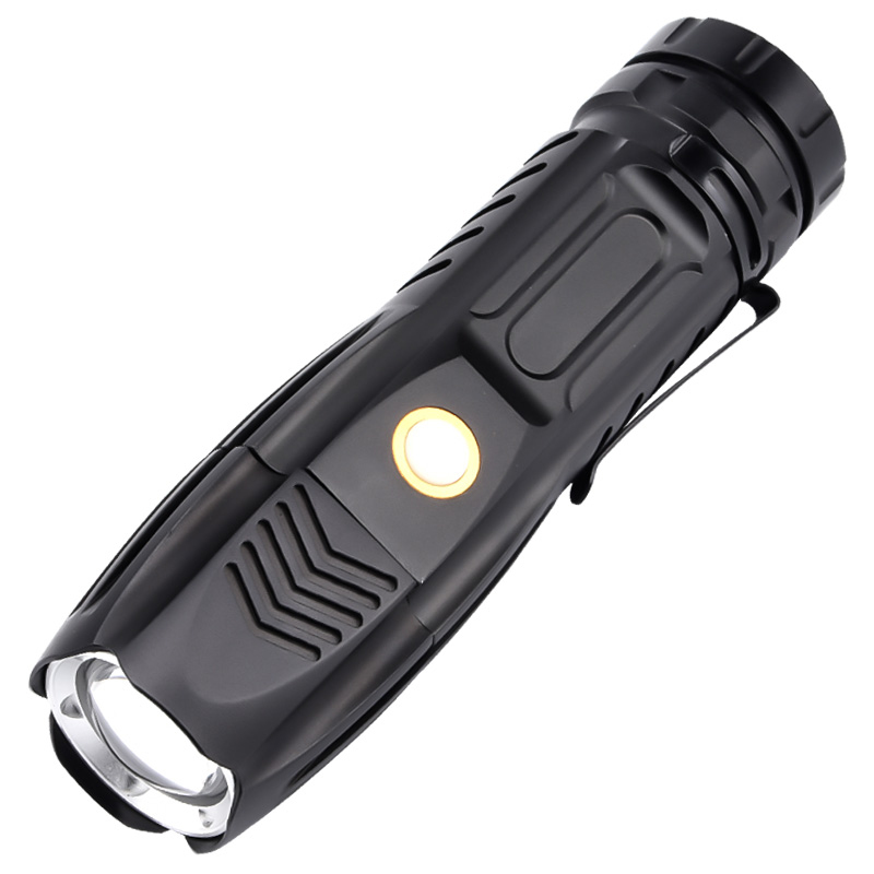 Ultra Bright LED Flashlight 90000LM P90 Zoom Flashlight Tactical Torch USB Rechargeable 5 Lighting Mode Outdoor Camping Lighting
