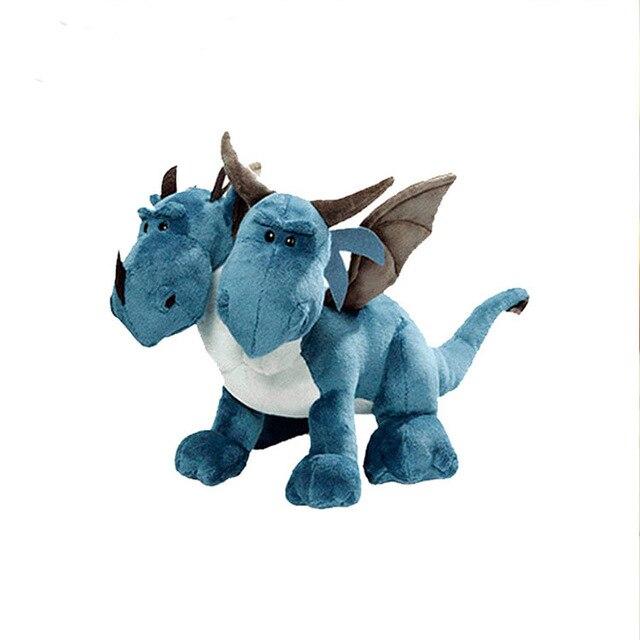35CM Dinosaur Double-headed Stuffed Dolls Carton Anime Dragon Gifts of plush toys for boys and children