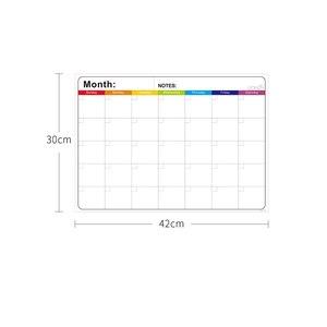 Image 2 - Magnetico Mensile Lavagna Calendario Cancellabile Fridge Magnet Sticker Piano Settimanale Quotidiana Lista Della Spesa To Do List Notepad Memo Board