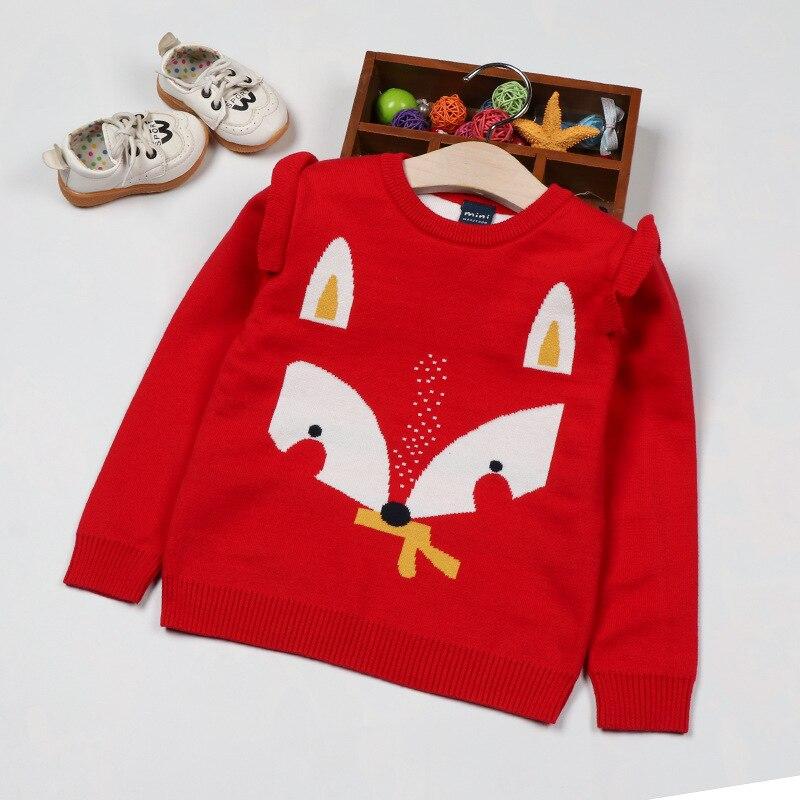 Infants Sweater 2019 Autumn And Winter Baby Pullover Cotton Girls Cartoon Animal Sweater Versatile Tops Fashion