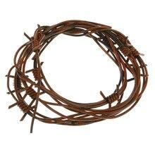 Guirlande fil de fer barbelé rustique | Décorations et accessoires de fête d'halloween