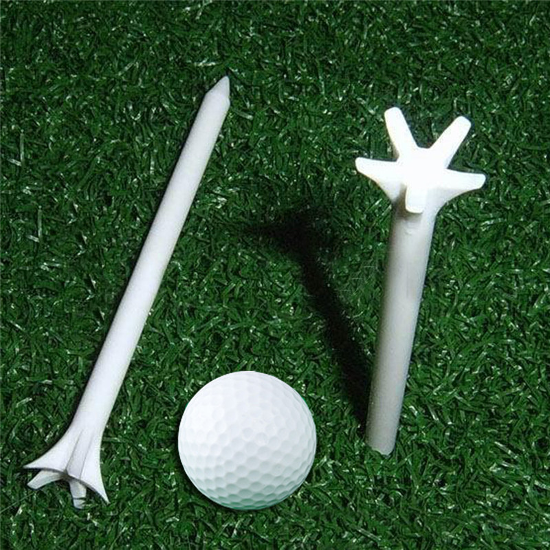 100pcs 70mm White Golf Ball Wood Tee Outdoor Sports Wooden Tees