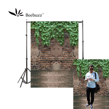 Beebuzz photo backdrop boston ivy backgroung broken walls on the green plant pattern,text landscape background wall photophone