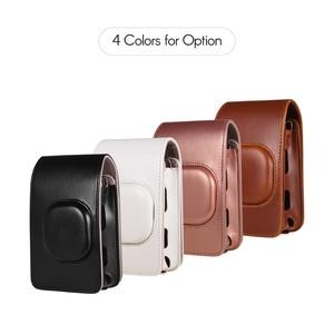 Image 2 - Compact Size Instant Camera Case Tas Compatibel Met Fujifilm Fuji Instax Mini Liplay Pu Leer Met Schouderband
