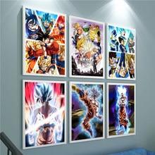 Japão anime goku posters hd impressão em tela quadros da arte parede decoração para casa sala de estar