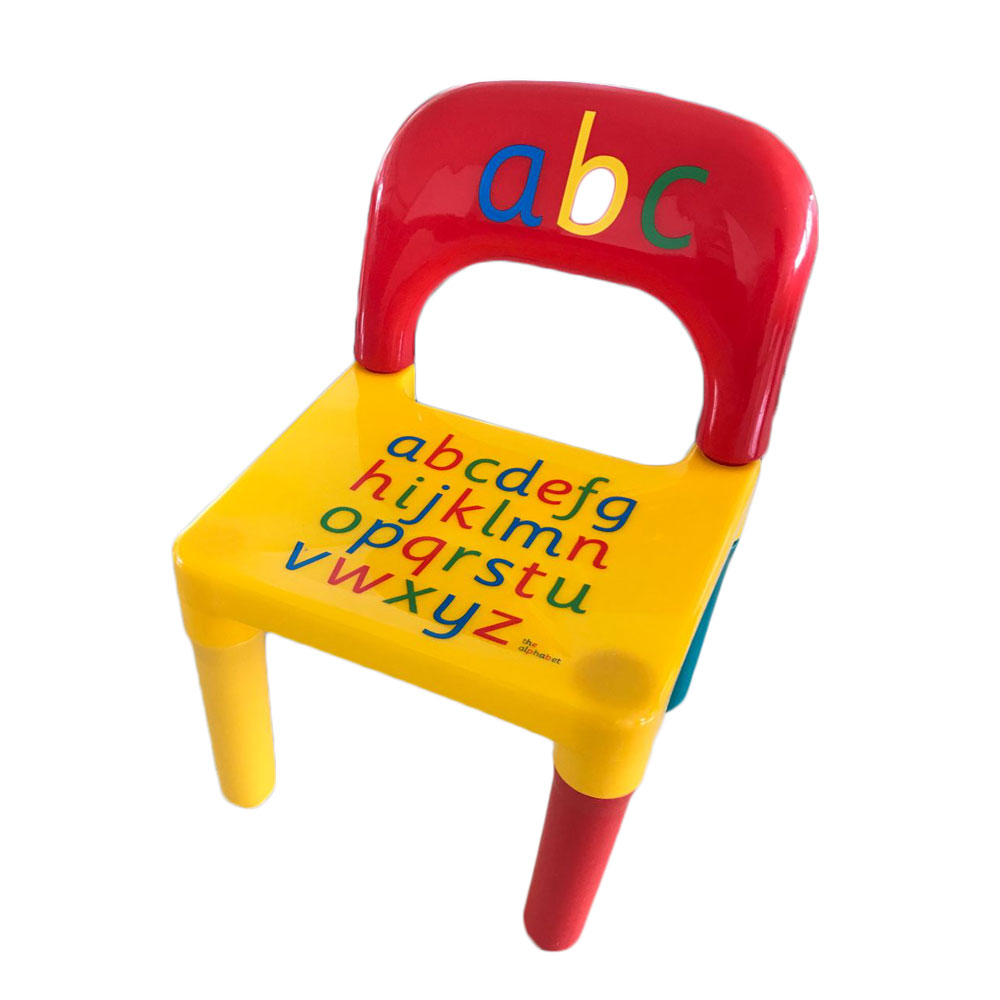 Chair Set For KidChildren Furniture Sets and ABC Alphabet Plastic Table Dinner Picnic Desk Seat Furniture (5)