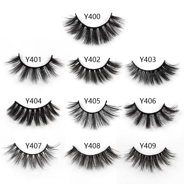 5/10 Pair 3D Mink Eyelashes Fluffy Dramatic Eyelashes Makeup Wispy Mink Lashes Natural Long False Eyelashes Thick Fake Lashes 6