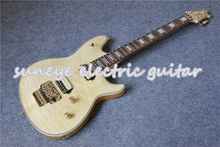 цены New Arrival Natural Wood Wolfgang Style Electric Guitar Quilted Finish Custom Guitar Electric In Stock