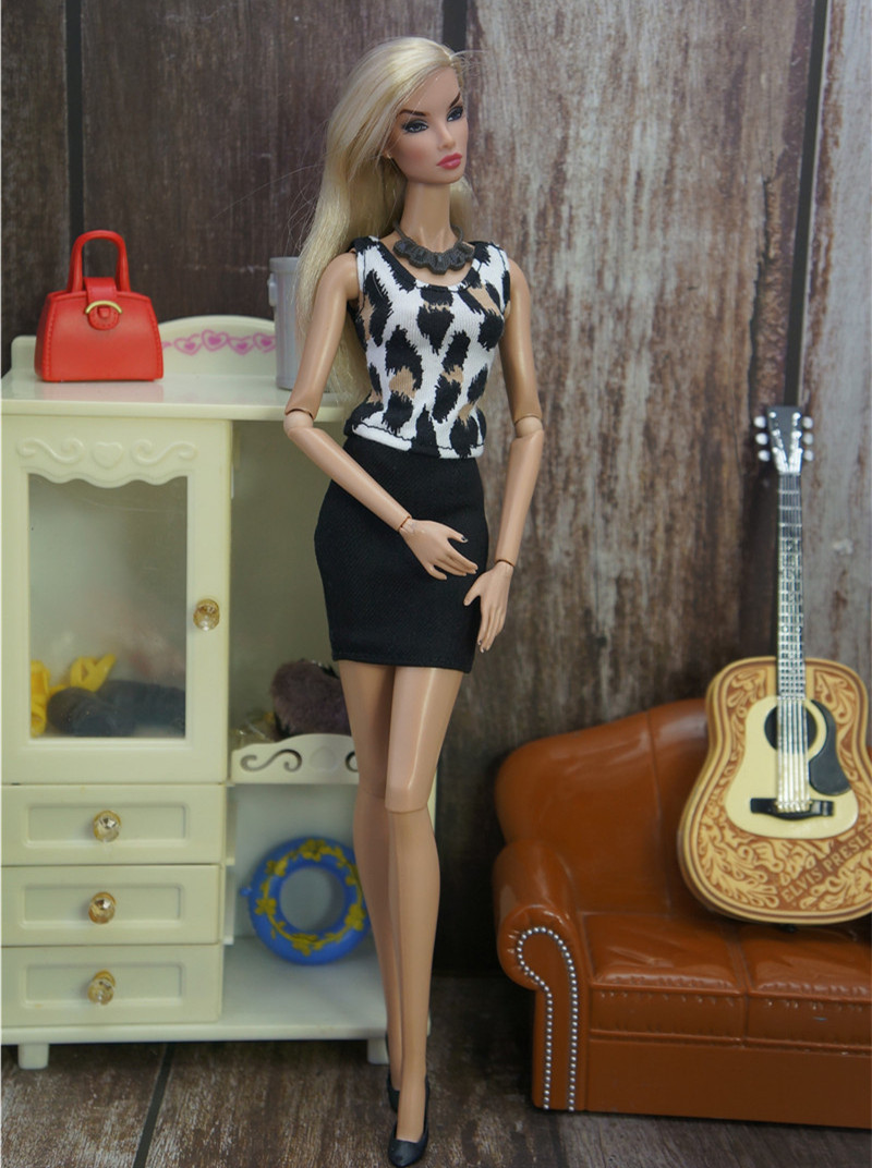 1/6 Fashion Office Suit Doll Dress For Barbie Doll Clothes Accessories Play House Party Dressing Up Costume Kids Toys Gift