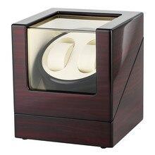 2+ 0 роскошные деревянные виндер коробки мотора шейкер держатели автоматические механические часы коробка с подзаводом хранения шейкер виндер США/Великобритания/ЕС/AU Plug