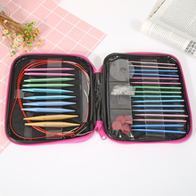 13 Pairs Aluminum Circular Knitting Needles Ring Set Change Head Knitting Needles DIY Knitting Tools Sewing Accessories