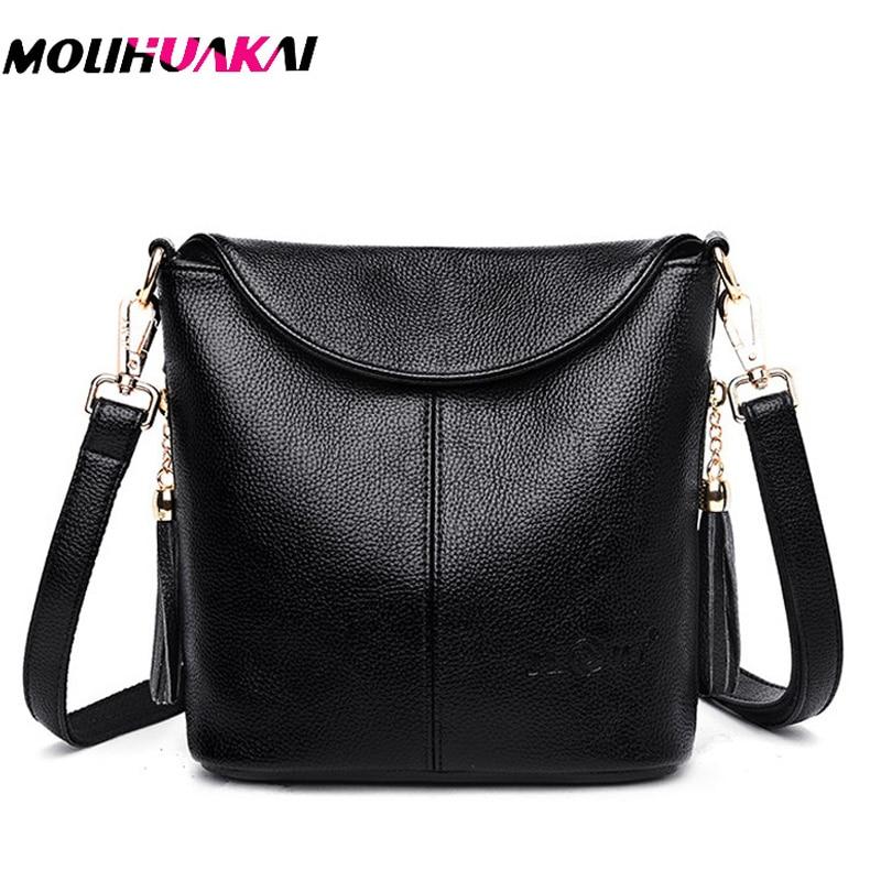 Hot Leather Luxury Handbags Women Bags Designer 2019 Women Messenger Bags Bolsa Feminina Sac A Main Femme Ladies Shoulder Bag