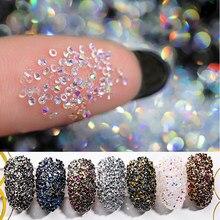 HNUIX – Strass de décoration pour les ongles, accessoire de manucure en 3D, gel UV, microcristaux, pierres en Zirconium,