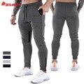ROEGADYN Fitness Sweatpants Training Jogging Pants Men Foot Mouth Zipper Design Jogging Men'S Sports Pants Gym Pants For Men Gym