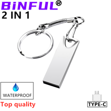 2020 Top BiNFUL waterproof usb flash drive 4GB 8G 16G 32G 64G 128G pen drive pendrive флешка silver u disk memoria cel usb stick