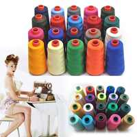 17 Colors 3000 Yards Overlocking Sewing Machine Industrial Polyester Thread Metre Cones Embroidery Sewingthread