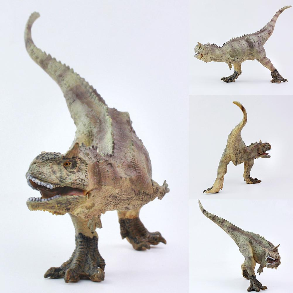 Lifelike Carnotaurus Dinosaur Action Figurine Solid Model Educational Kids Toy