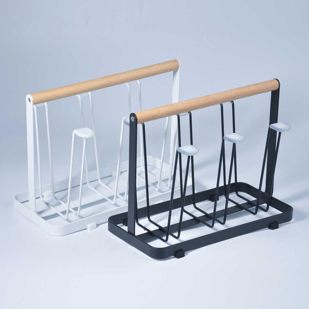 Soporte para secar botellas y vasos de Metal, escurridor organizador de tazas Rectangular, accesorios de cocina, secador de utensilios
