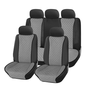 Image 5 - Universal gray Car Seat Cushion back Protector Automotive interior Fit for most Cars Artificial suede Four season Car Seat Cover