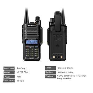 Image 4 - 2019 NEW High Power Upgrade Baofeng UV 9R plus Waterproof walkie talkie 10w for two way radio long range 10km 4800mah uv 9r plus