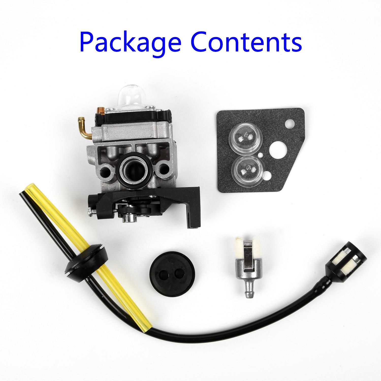 Carburetor For Honda GX35 HHT35 HHT35S 16100-Z0Z-034 25-34 Fuel Line Primer Bulb