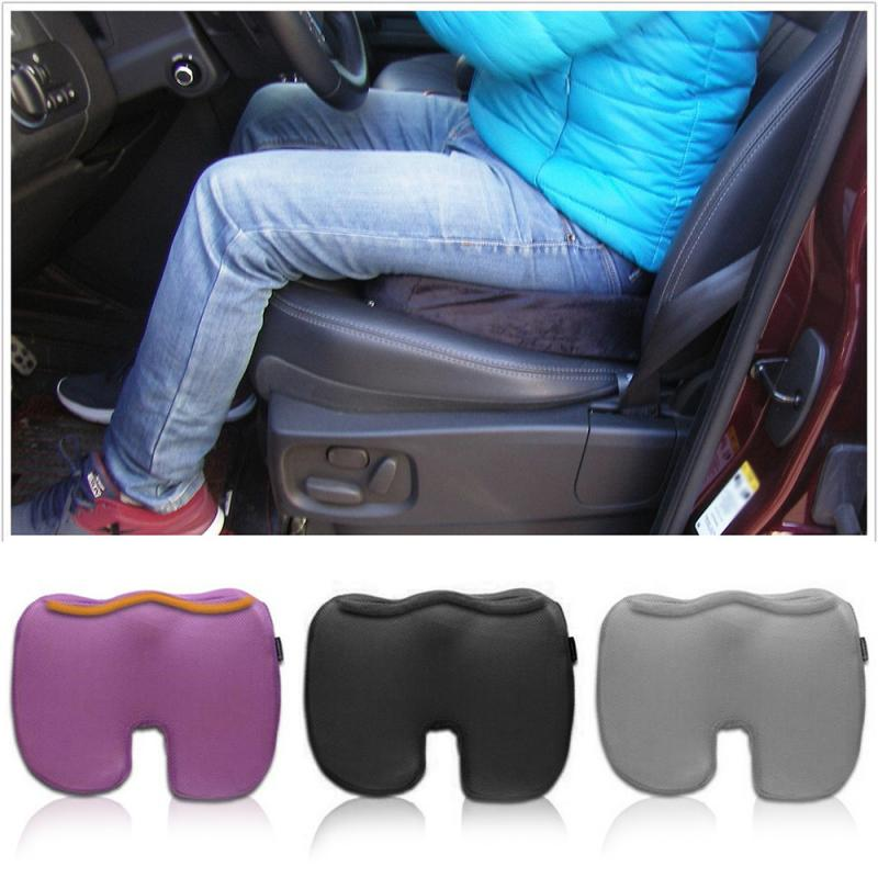 1Pcs Coccyx Orthopedic Memory Foam Seat Cushion Covers Offic Chair Car Pad Pain Relief Lumbar U-shaped Auto Interior Accessories