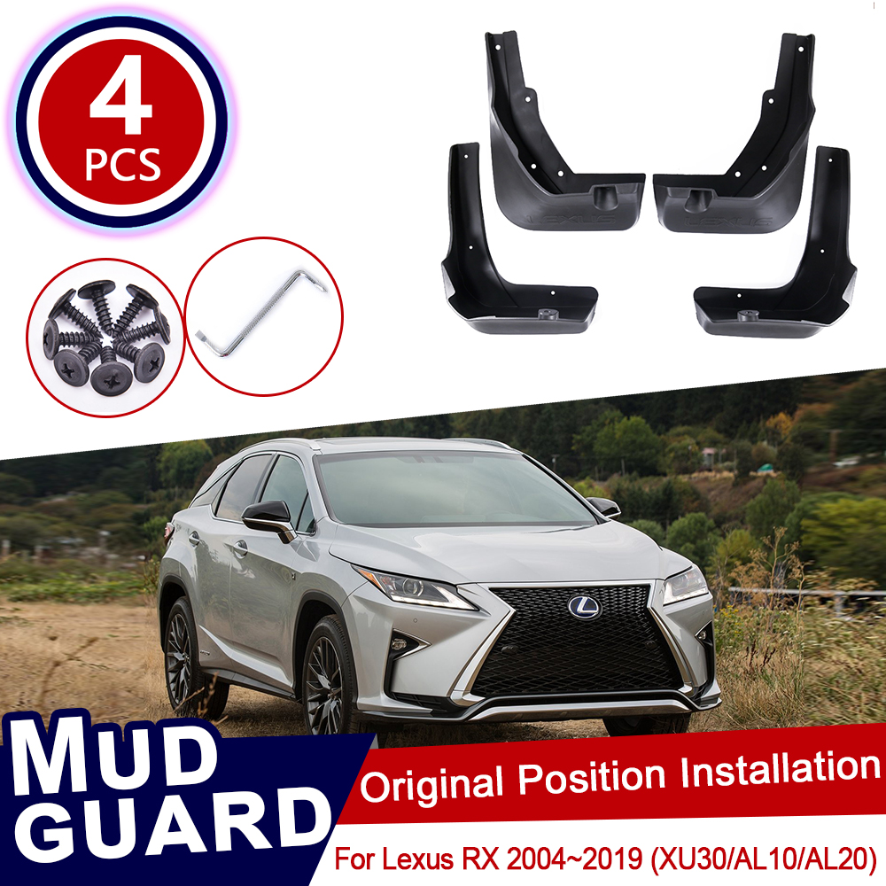 for <font><b>Lexus</b></font> RX XU30 AL10 AL20 RX300 RX330 <font><b>RX350</b></font> RX400h 2004~2019 Car Mud Flaps Front Rear Mudguard Splash Guards <font><b>Accessories</b></font> <font><b>2018</b></font> image
